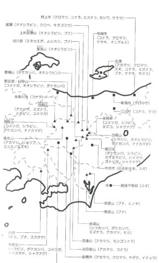 日本全国に広がる立ち枯れ被害マップ「森林の会」作成